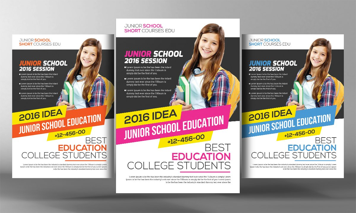 community college flyer template flyer templates creative market