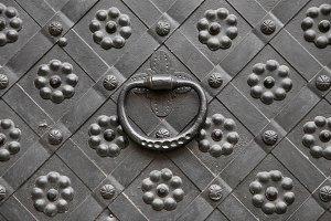 Decorative gate with door knocker
