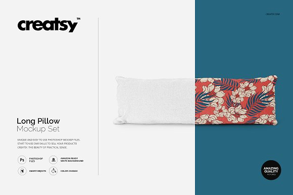 Free Long Pillow Mockup Set