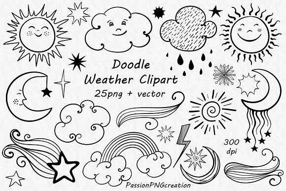 Doodle Weather Clipart