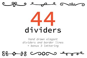 Hand drawn elegant dividers, border