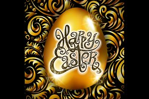 Happy Easter. Calligraphy lettering