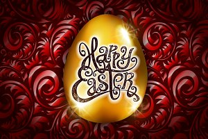 Happy Easter. Calligraphy lettering.