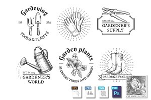 Gardening labels compositions