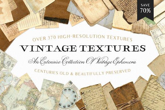 Vintage Textures & Ephemera Bundle