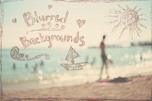 Summer Blurred Vintage Backgrounds.