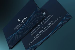 Minimal blue business card business card templates creative market navy blue business card flashek Choice Image