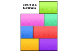 Comic book halftone background vector illustration
