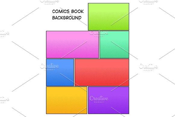 Comic book halftone background vector illustration