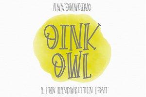 Oink Owl - OTF TTF