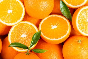 Background from orange fruits.