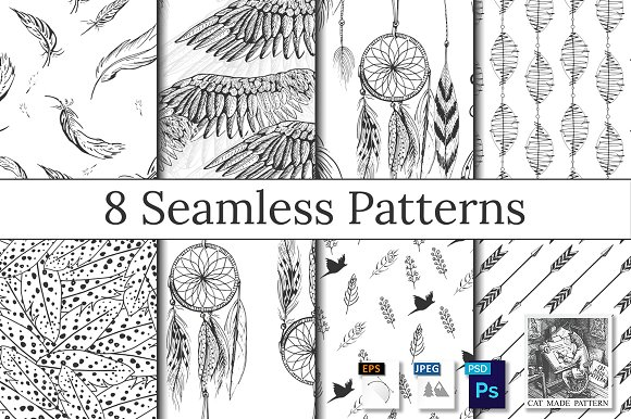 Feather Wings Dreamcatcher Pattern