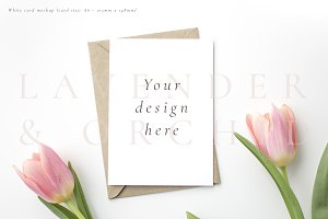 Invitation card mockup - Tulips