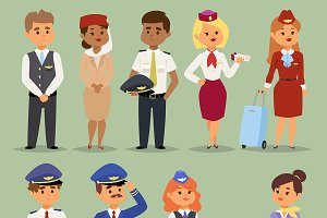 Officers flight pilots stewardesses