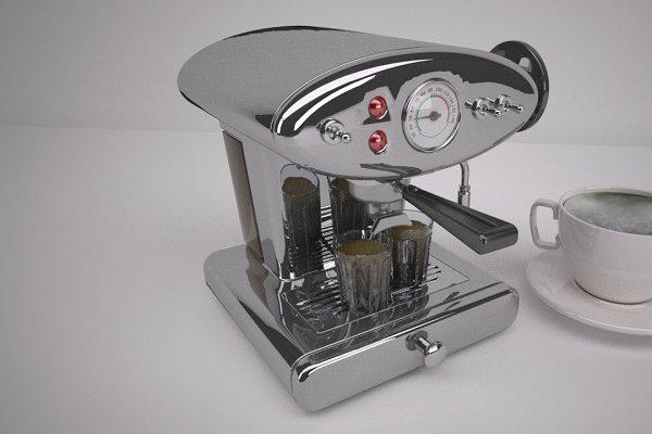 3D Appliances: Graphics834 - Cappuccino coffee machine