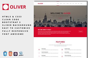Oliver - One-Page Business Template