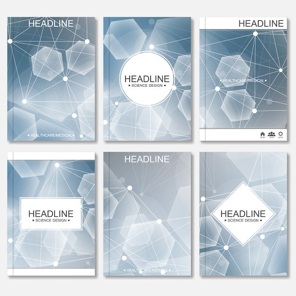 Scientific brochure design template in Illustrations - product preview 1