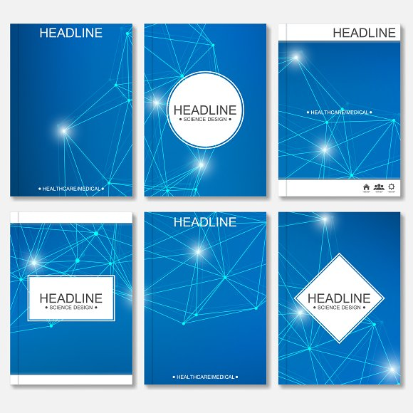Scientific brochure design template in Illustrations - product preview 2