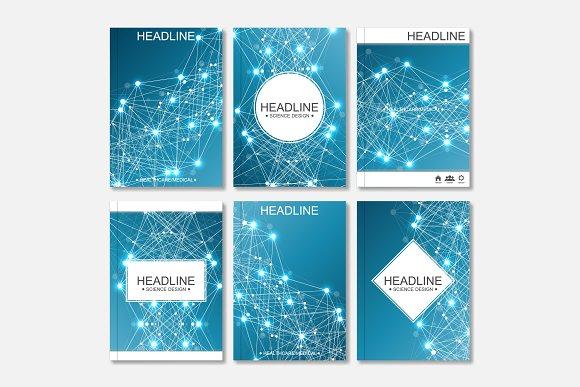 Scientific brochure design template in Illustrations