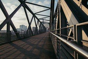 Modern Bridge Walkway in Modern City