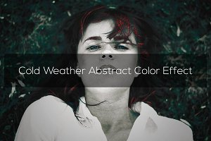 Cold Weather Abstract Color Effect