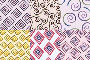 6 Seamless Geometric Patterns