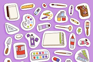 Painting vector artist tools icons