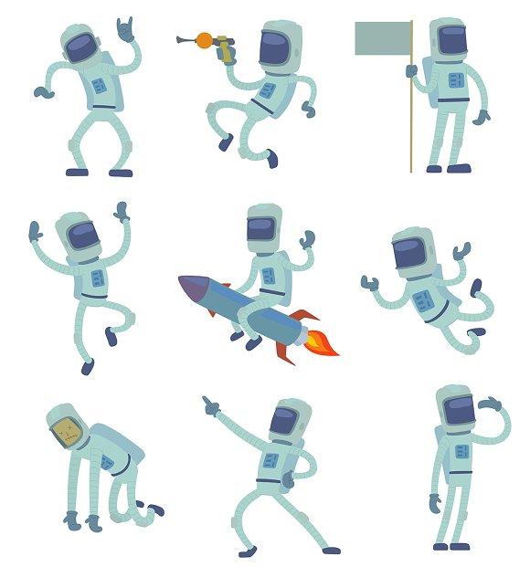 Vector Alien Character Astronaut Man