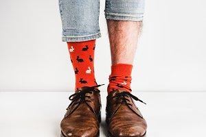 Bright, funny socks