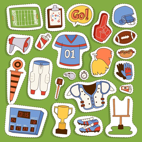 American Football Player Icons