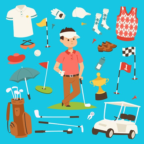 Golf Player Clothes And Accessories
