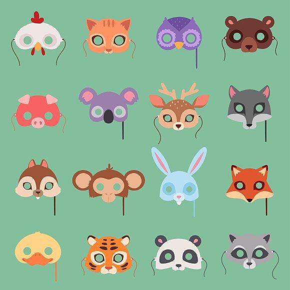 Animals Vector Carnival Kids Mask