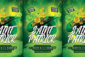 Saint Patrick Party Flyer Templates