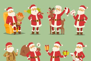 Christmas Santa Claus vector man