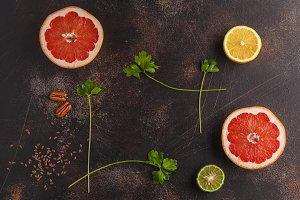 citrus food frame