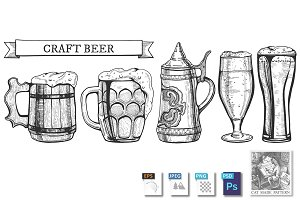 Beer glasses types