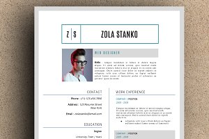 The Zola Resume Template