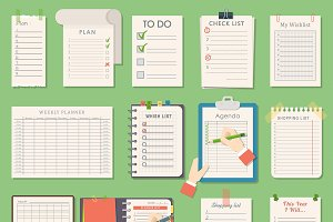 Vector notebook agenda business plan