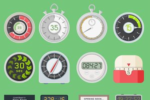 Timer vector clocks watch symbol