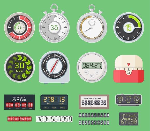 Timer Vector Clocks Watch Symbol