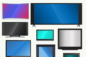 TV PC vector screen lcd monitor