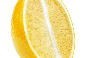 Half of lemonfruit slice isolated
