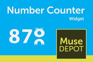 Number Counter  2.0 - Adobe Muse