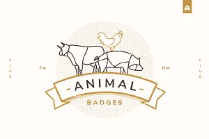 Outline Animal Badges