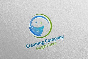 Cleaning Service Eco Friendly Logo 2