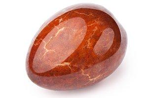 Avocado oily stone isolated