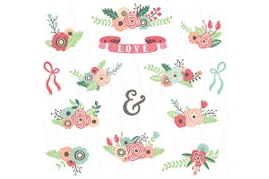 Floral Clip Art Collections