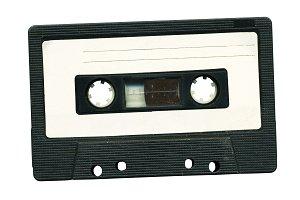 Vintage recording cassette tape.