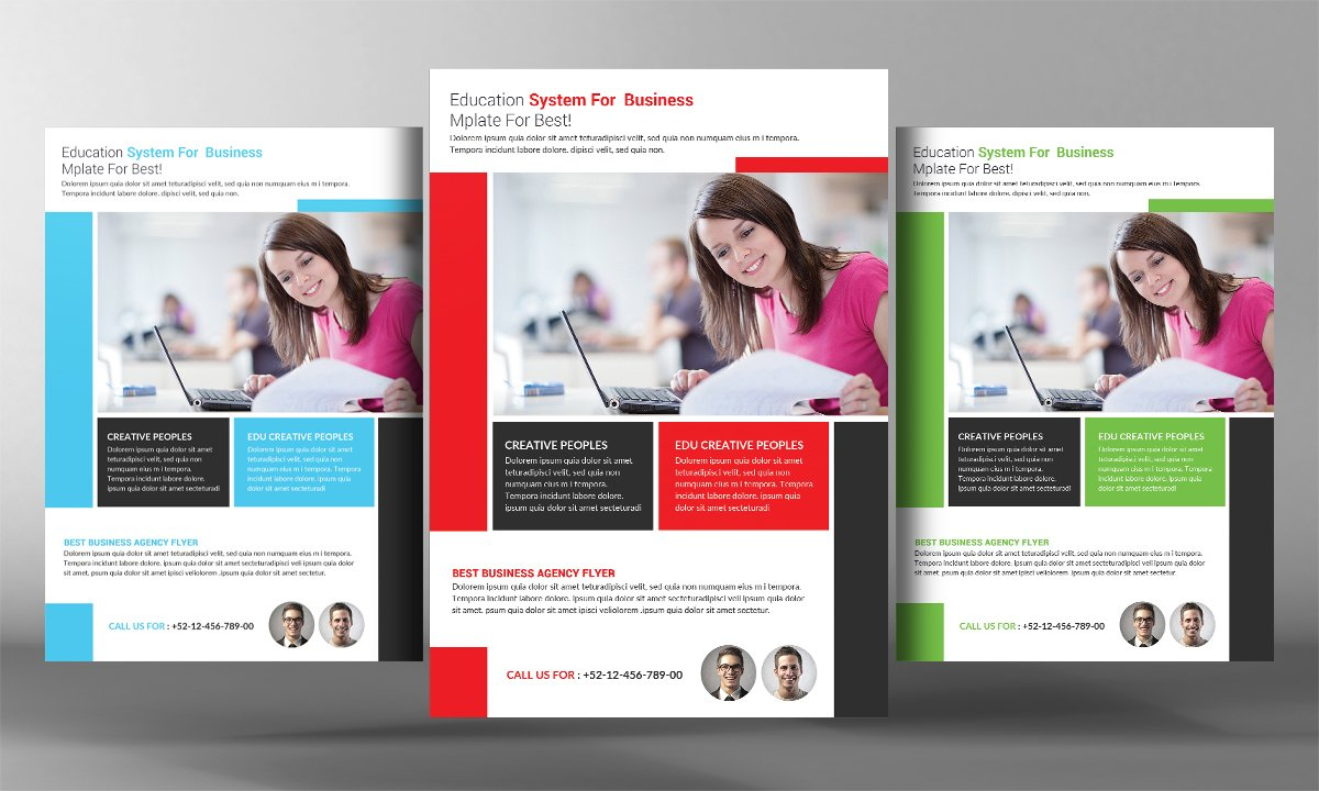 College Education Flyer Flyer Templates Creative Market - High school brochure template