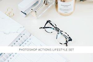 Photoshop actions lifestyle set